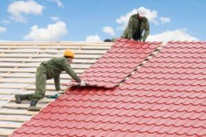 Tetőfedés, fém tető terasz