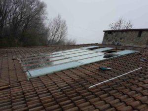 tetőtér - cseréptető megbontása