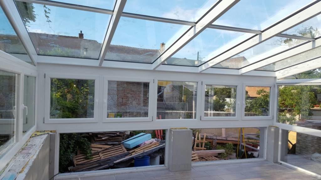 Csapott tető, ablaksor