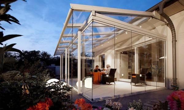 teraszbeépítés üveg télikert