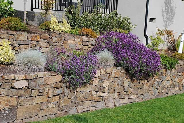 kőfal kert télikert