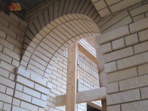 Boltív építése téglából
